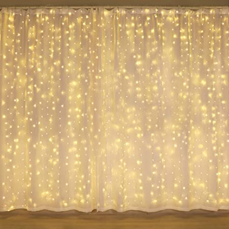 Amazon Com 300 Led Curtain Lights Twinkle Lights For Bedroom Wedding Decorations Wall Decor Lights For Teen Girls Dorm Room Essentials For Girls Decor Fairy String Lights Party Birthday Christmas Decorations Home Kitchen