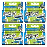 Dorco Pace 6+ Replacement Cartridges - World's First Six-Blade Shaving System for Men - Includes Trimmer, Vitamin E Lubrication Strip - Common Docking System Compatible With Any Pace Handle - 16 Count