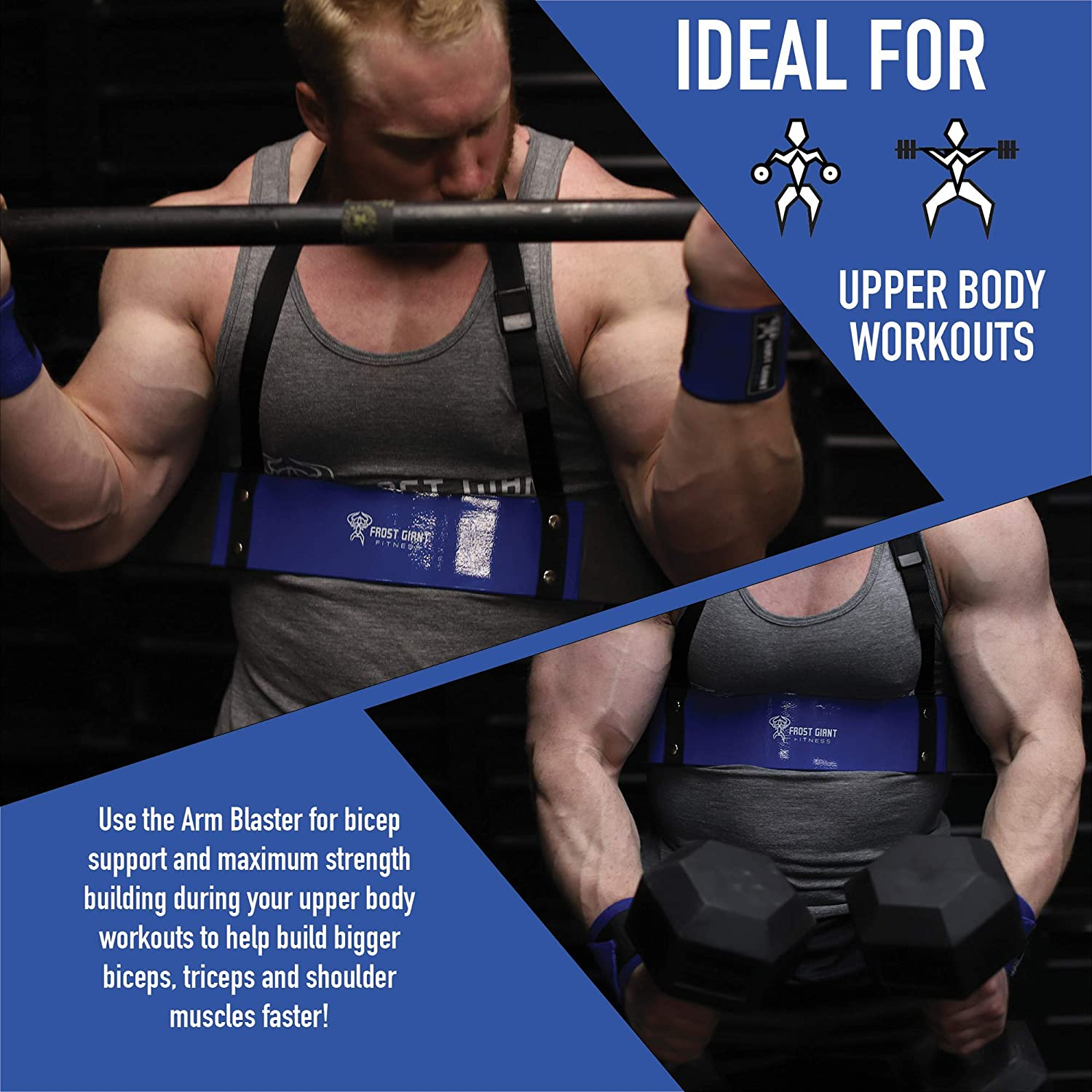 Super 1X Arm Blaster Bicep workout isolator Bar Tricep Curl Gym/&Training fitness