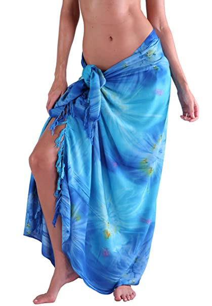 5dc0415830171 INGEAR Beach Long Batik Sarong Womens Swimsuit Wrap Cover Up Pareo with  Coconut Shell Included (