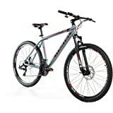 """Bicicletta Montagna Mountainbike 27,5"""" BTT SHIMANO, alluminio, doppio disco e sospensione"""