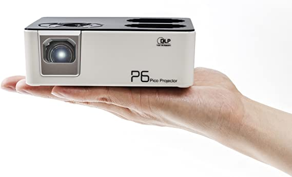 AAXA P6 Mini LED Projector with Rechargeable Battery - Supports 1080p HD