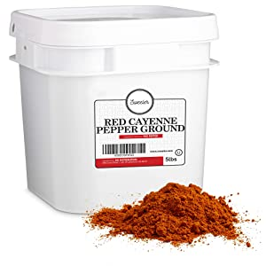 Sweeler, Bulk Red Ground Cayenne Pepper - 40,000 Heat Units, Value Large Bucket Size for Food Service & Home Use, 5lbs