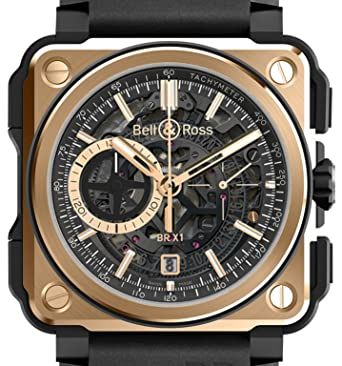 Bell And Ross Watches >> Amazon Com Bell Ross Br X1 Rose Gold Ceramic Brx1 Ce Pg