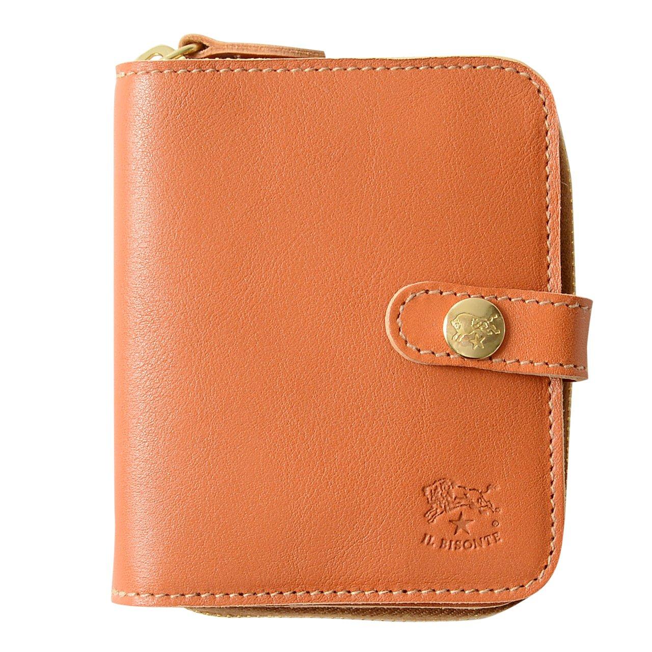 762cacf504aa 国内正規販売店 [イルビゾンテ] IL BISONTE ラウンドジップ コンパクト ウォレット ショートウォレット 財布