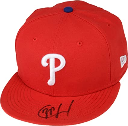 Image Unavailable. Image not available for. Color  JP Crawford Philadelphia  Phillies Autographed New Era Cap ... 3d98cf68891