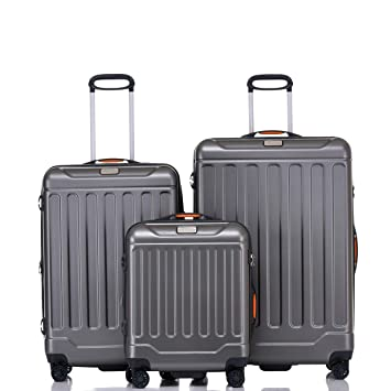a240c1d23f Jeep ABS Hard Case 3 Piece Suitcase Trolley Tourist Bag with Spinner ...