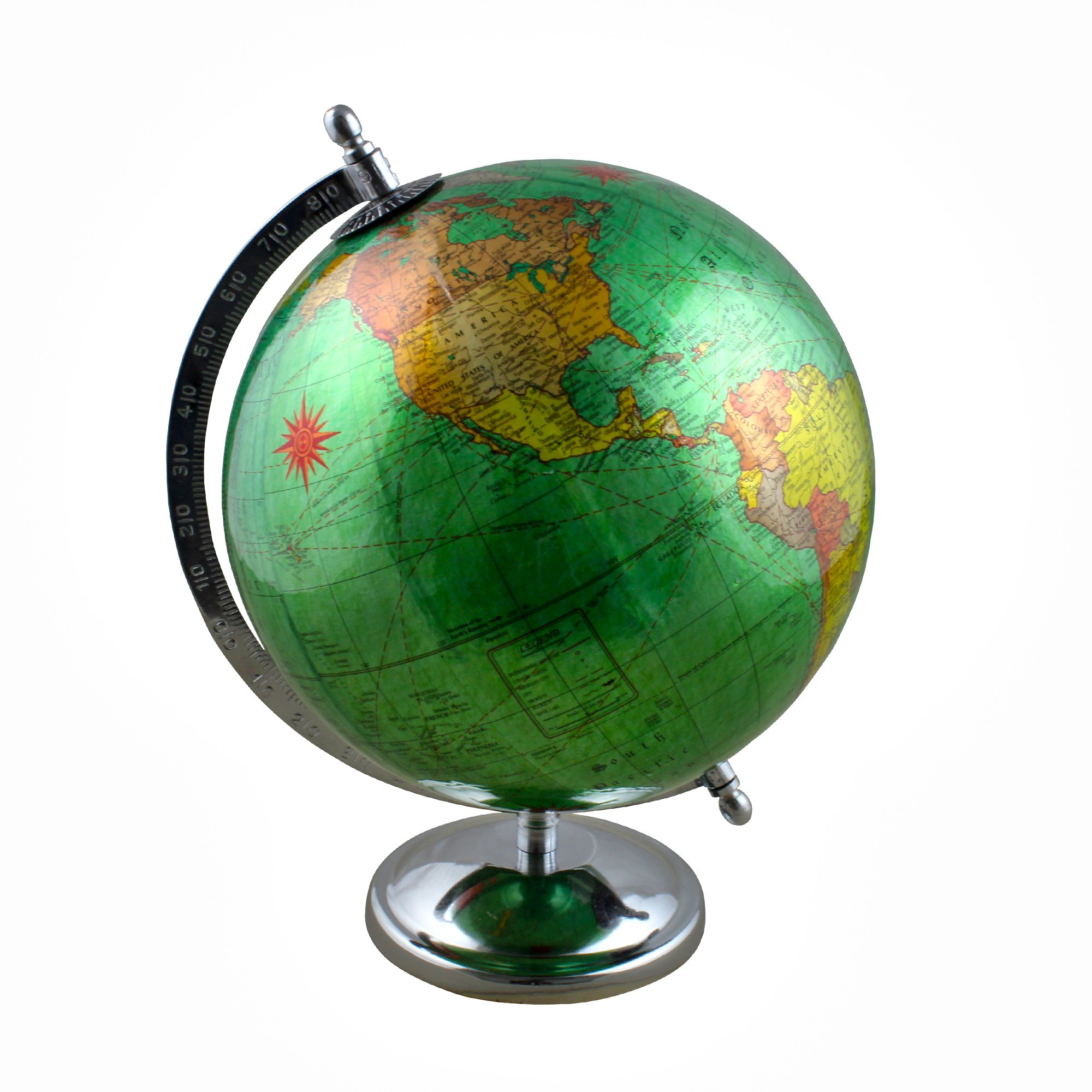 Desktop Political Interactive World Globe Earth Map with Stand - Perfect Gift for Home Office Desk Decoration - Stock Clearance Sale!!