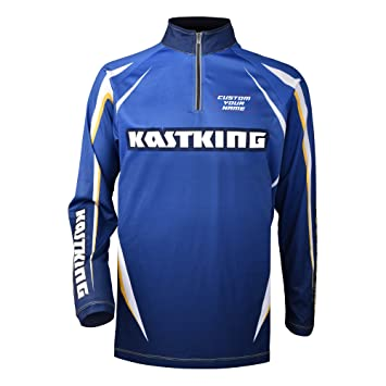 670e0111e64 KastKing® Personalized Fishing Jersey SPF 50 UV Protection Long Sleeve T- shirt, Customized to Add Your Name and Fishing Team Name or Slogan.