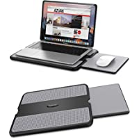 AboveTEK Portable Laptop Lap Desk w/ Retractable Left/Right Mouse Pad Tray, Non-Slip Heat Shield Tablet Notebook…