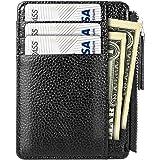 Porta Carte di Credito, PAMIYO Tasche Pelle Ultrapiatto Portafoglio Pratico e Leggeri Carta d'Identità Tasche in Colori Nero - Fermasoldi