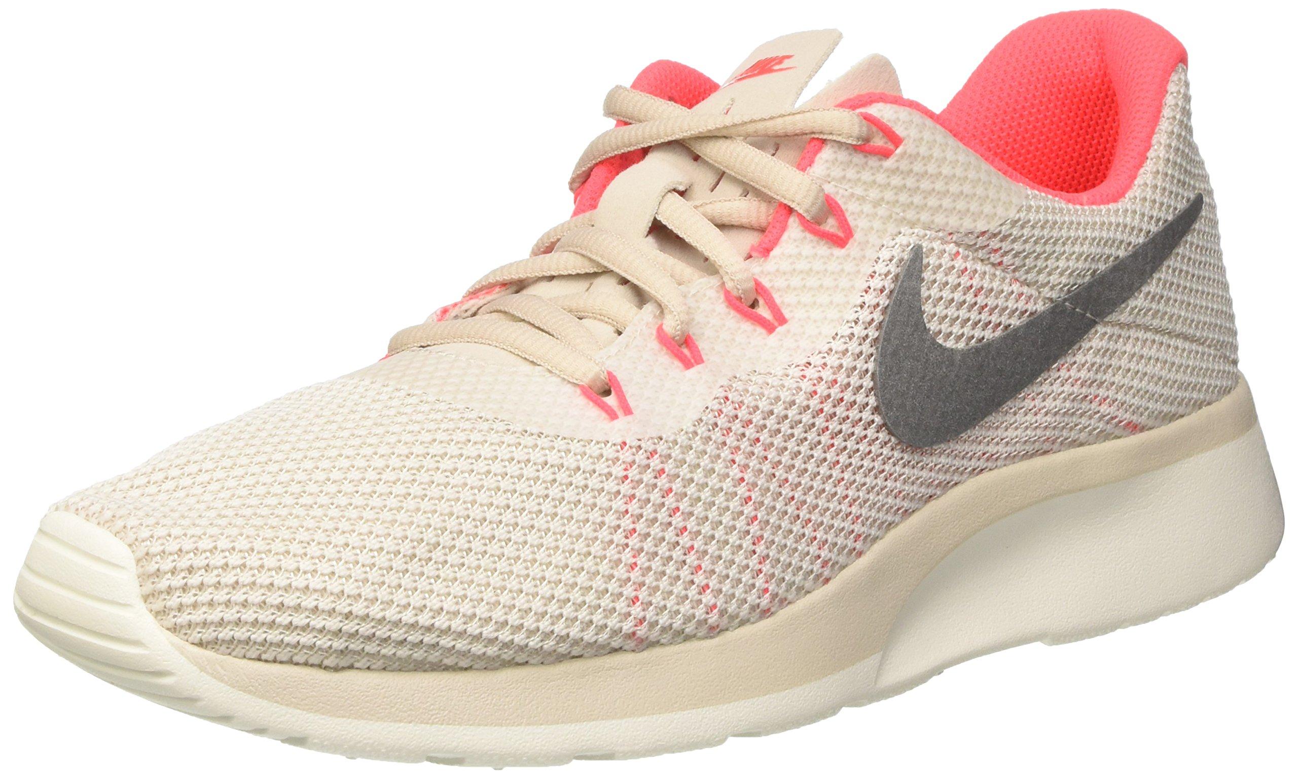 Nike Women's Tanjun Racer Running Shoe LT Orewood Brn/Chrom-Sail-Solar Red 10