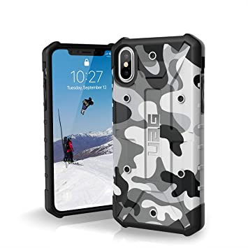Urban Armor Gear Pathfinder para Apple iPhone Xs / X Funda con estándar Militar Estadounidense case [Compatible con inducción] - carmín