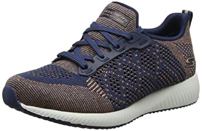 Skechers Damen Bobs Squad-Double Dare Slip on Sneaker, Grau (Grey/Black), 37 EU