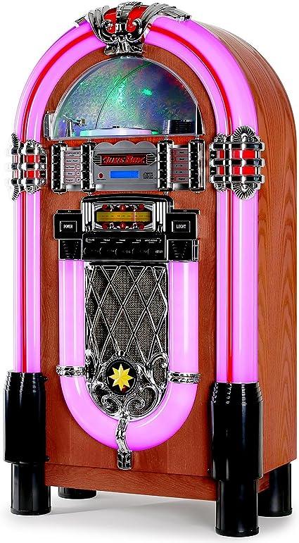AUNA Graceland XXL Jukebox Vintage - Rockola Discos , MP3 ,