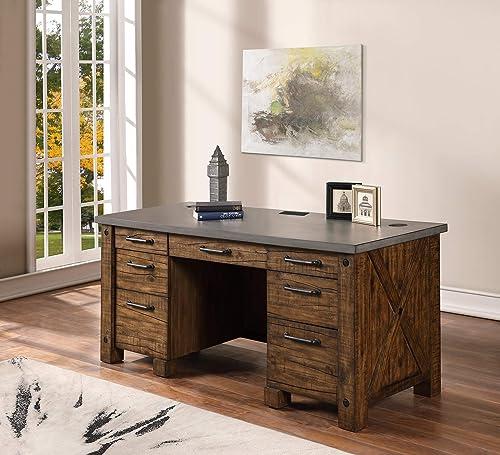 Martin Furniture IMJA680 Double Pedestal Desk
