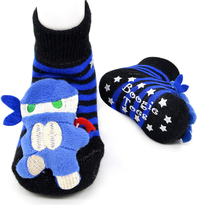 Ninja Kid Boogie Toes Rattle Socks, 1 Pair