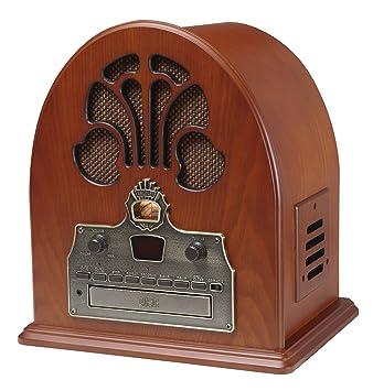 Amazon.com: Crosley cr32cd Catedral Retro Radio AM/FM y ...