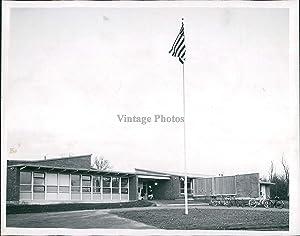 Vintage Photos 1952 Historic Asbury Street Hamilton Elementary School Dedicate 7X9