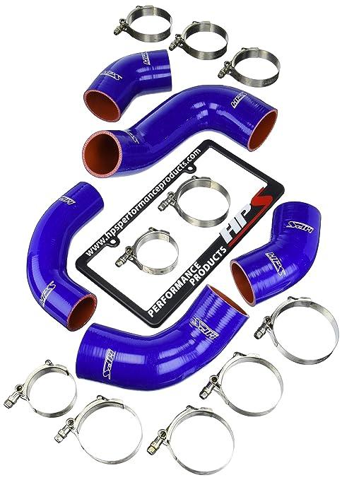 HPS (57 – 1227-blue) silicona Intercooler Turbo Hose Kit para Mitsubishi Lancer