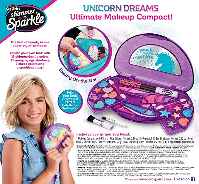 Cra-Z-Art Shimmer N SPARKLE Instaglam poupée-Evie Inc Maquillage Compact