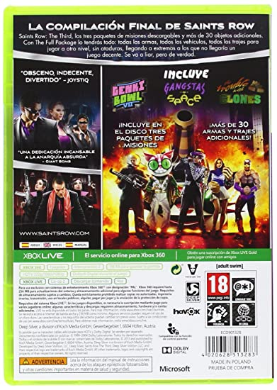 Saints Row: The Third - The Full Paqueteage: sony ...