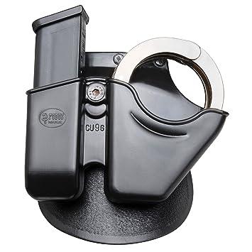 Double Magazine And Handcuff Holder Amazon Fobus Paddle CU41G Handcuff Magazine Combo Glock 19