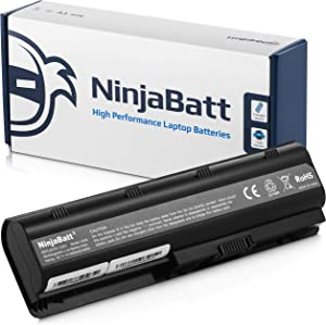 NinjaBatt Laptop Battery for HP Pavilion G4 G7 Presario CQ56 CQ57 CQ62 G56 HSTNN-DB0W HSTNN-Q62C G72-250US G72-B60US High Performance [6 Cells/4400mAh/48wh]