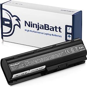 NinjaBatt Laptop Battery for HP Pavilion G4 G7 Presario CQ56 CQ57 CQ62 G56 HSTNN-DB0W HSTNN-Q62C G72-250US G72-B60US High Performance [6 Cells/4400mAh/48wh]