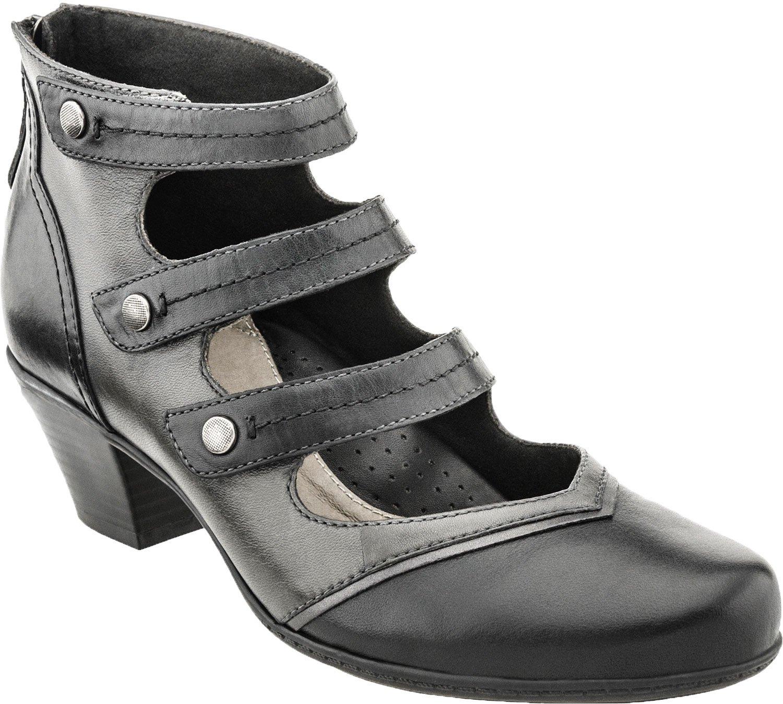 Earth Women's Serano Mid Heel Pumps B01AVC62ZI 9 B(M) US|Black Full Grain Leather