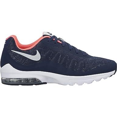 NIKE Mens Air Max Invigor SE Shoe Obsidian Vast Grey Hot Punch Size 8