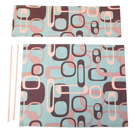 Enjoyable Everywhere Chair Replacement Waterproof Canvas Cover Set Round Stick Aqua Retro Caraccident5 Cool Chair Designs And Ideas Caraccident5Info