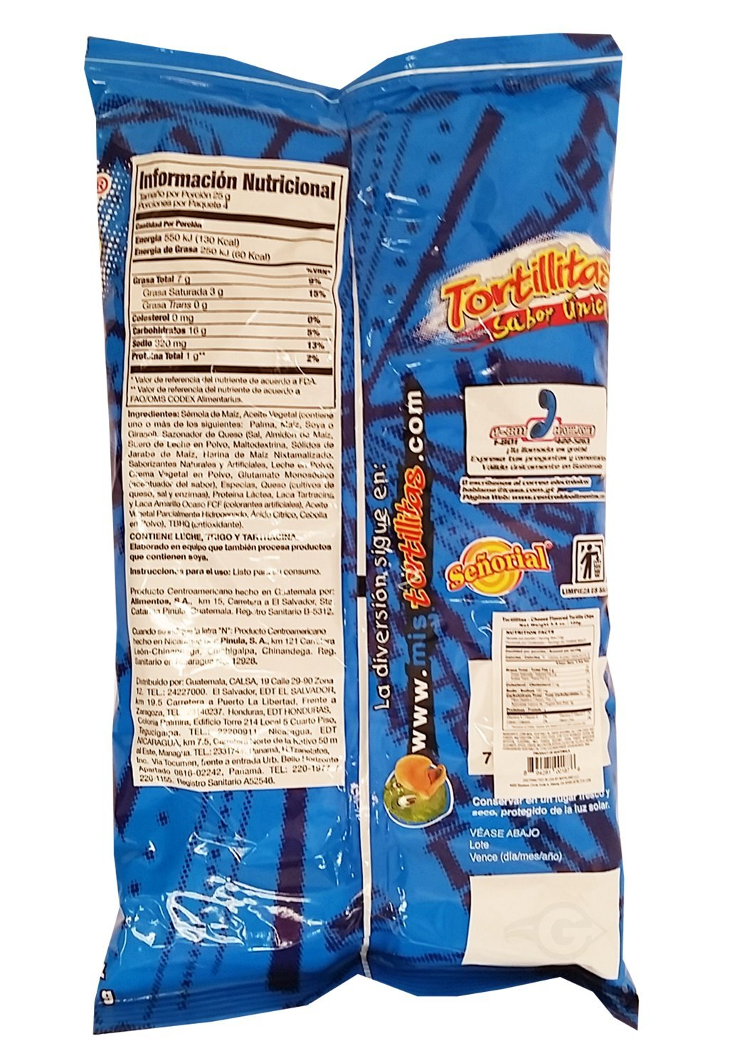 Amazon.com : Tortilla Senorial Family Pack Snack 3.5 oz - Chips Paquete Familiar (Pack of 12) : Grocery & Gourmet Food