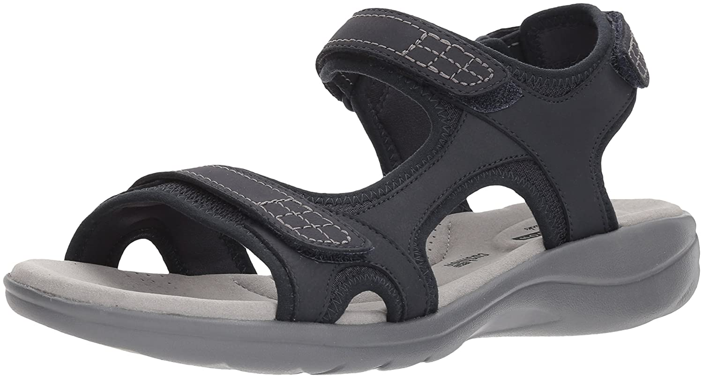 CLARKS Women's Saylie Jade Sandal B074CJWB6T 9.5 M US|Navy