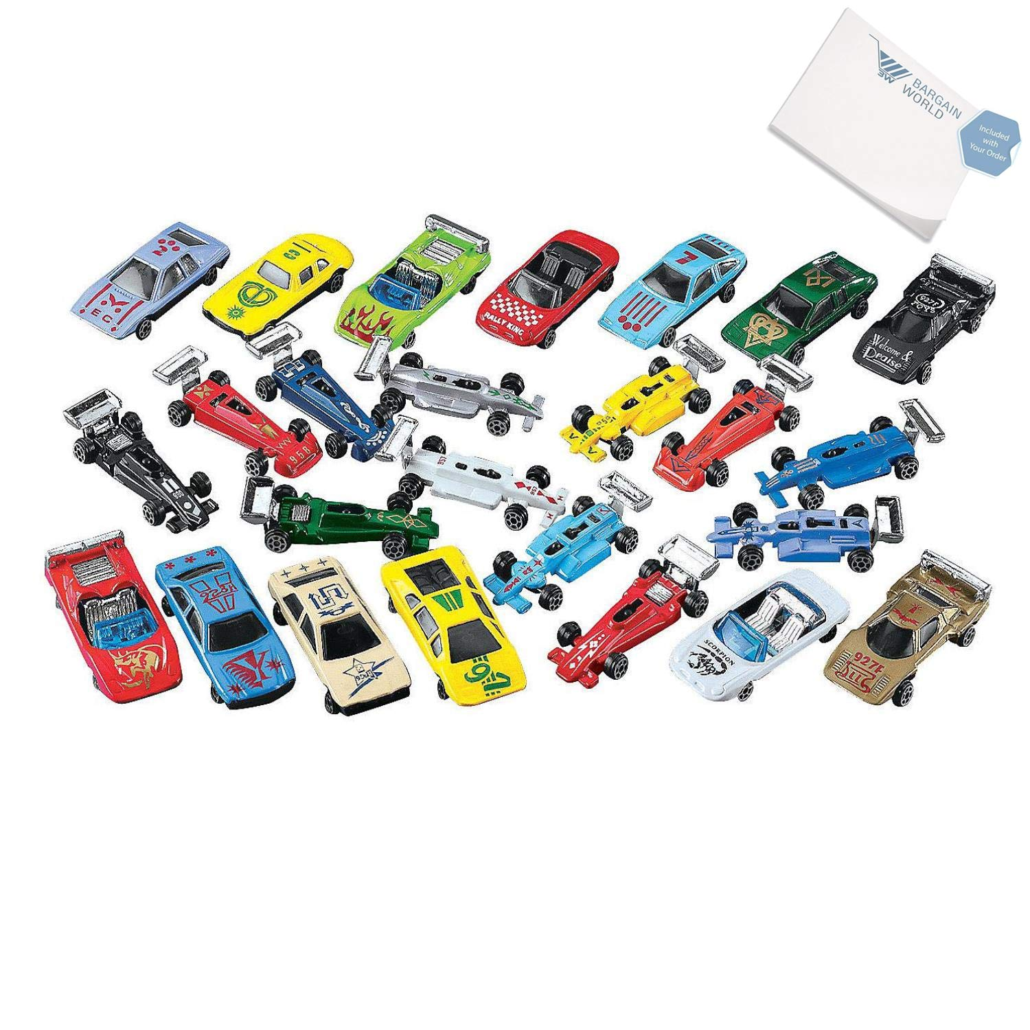 Amazon com: Bargain World Die Cast Car Assortment (With Sticky Notes