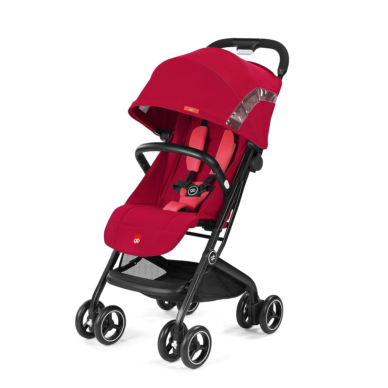 gb Gold - Silla de paseo Qbit, Sillita Compacta, Travel System 2 en 1, desde los 6 meses hasta los 17 kg (4 años aprox.), Cherry Red