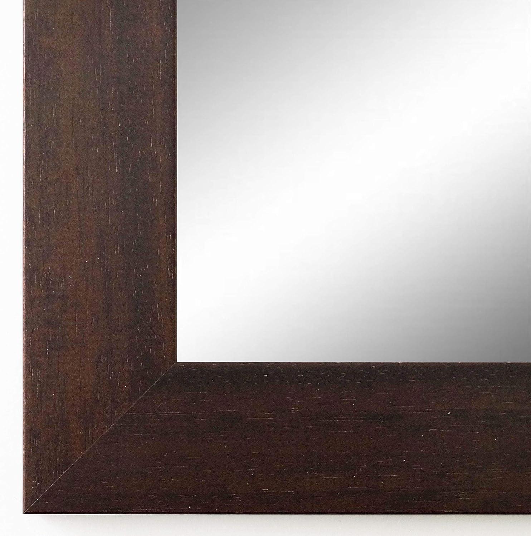 Online Galerie Bingold Wandspiegel Spiegel Badspiegel - Florenz 4,0 - Braun - 60 x 140 - Außenmaß inkl. Massivholz-Rahmen - viele Größen verfügbar - Modern, Barock, Antik, Vintage