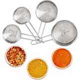 Andrew James Measuring Cup Set In Stainless Steel, 4 Piece