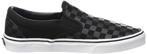 Vans VEYE276 Unisex - Erwachsene Slip, Schwarz ((Checkerboard) black/black), 46 EU