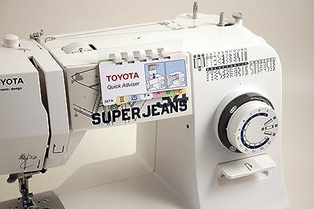 Toyota máquina de Coser, plástico, Blanco, 19,2 x 41,2 x 29,2 cm: Amazon.es: Hogar