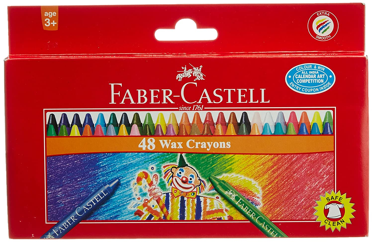 Faber Castell Wax Crayons - 48 Shades by Faber Castell   B00LY27WYK