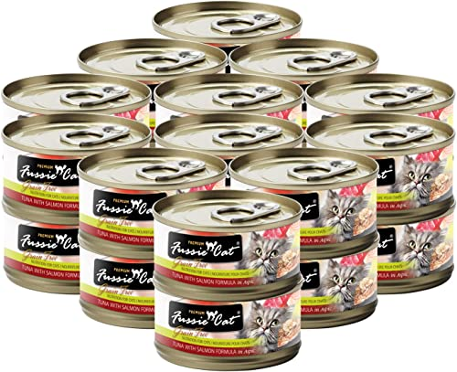 Fussie Cat Premium Tuna with Salmon Formula in Aspic 24 2.82oz