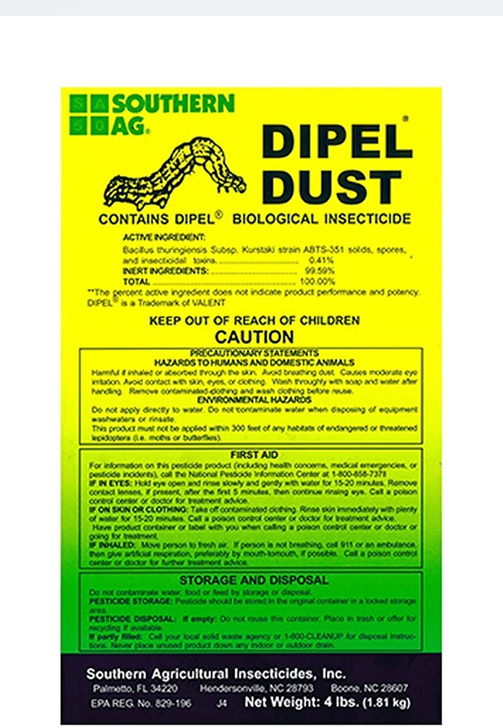 Amazon.com: Southern AG DIPEL biological insecticida en ...