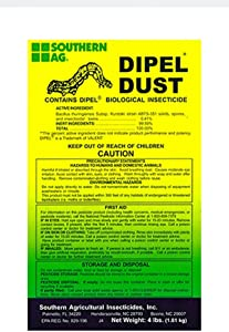 Southern Ag Dipel Dust Biological Insecticide, 4 Pound Bag