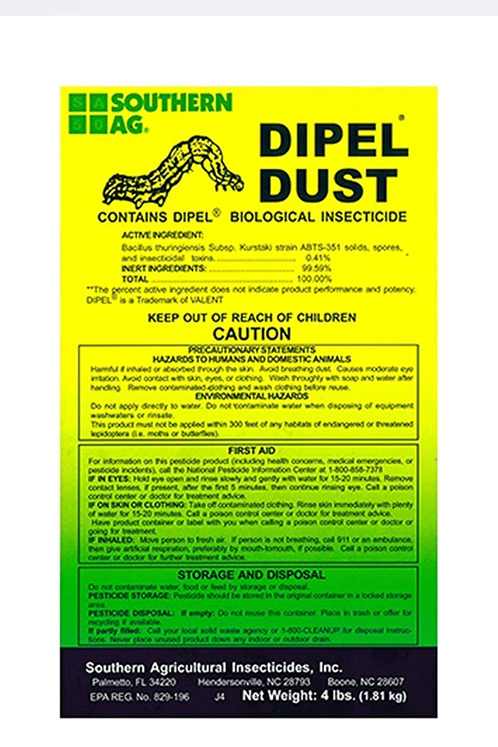 Southern Ag Dipel Dust Biological Insecticide Bag Review