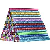 120 stuks Glitter Lijm Sticks, Comius Sharp 15 Gekleurde 7 * 100mm Hot Lijm Stick voor Lijmpistool, Mini Smeltlijm…