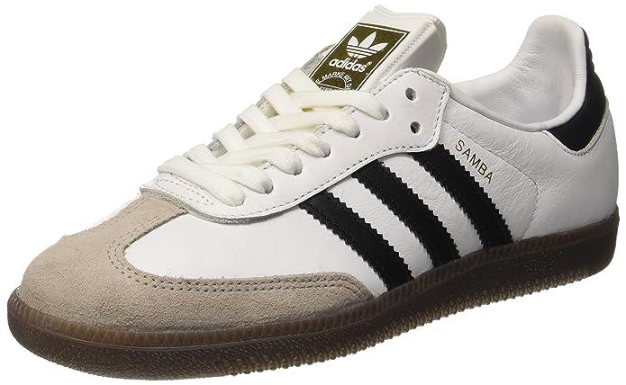 adidas Samba Og Damen Schuhe Weiß mit schwarzem Streifen