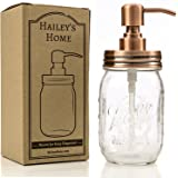 Ball Mason Jar Soap Dispenser - Bronze Metal Copper Pump from Stainless Steel with Clear Glass Jar for in Kitchen & Bathroom