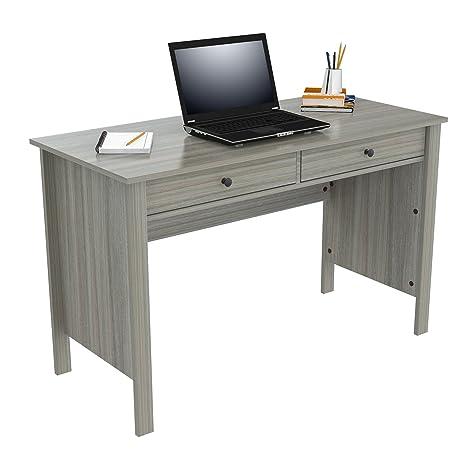 Amazon Com Inval Es 10603 Writing Desks Smoke Oak Kitchen Dining