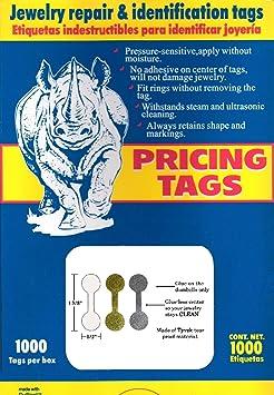 1000 piezas joyería reparación, Precio y etiquetas de identificación/Tyvek autoadhesivas rectángulo/mancuernas/Barbell joyería etiquetas de precios: ...